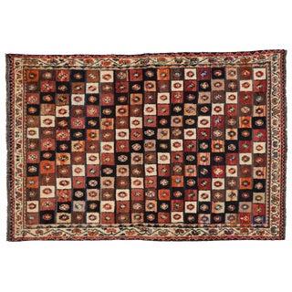 Vintage Persian Shiraz Rug- 4′ × 6′