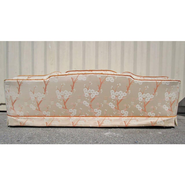 Hollywood Regency Sofa with Pleated Arm Rests - Image 2 of 7