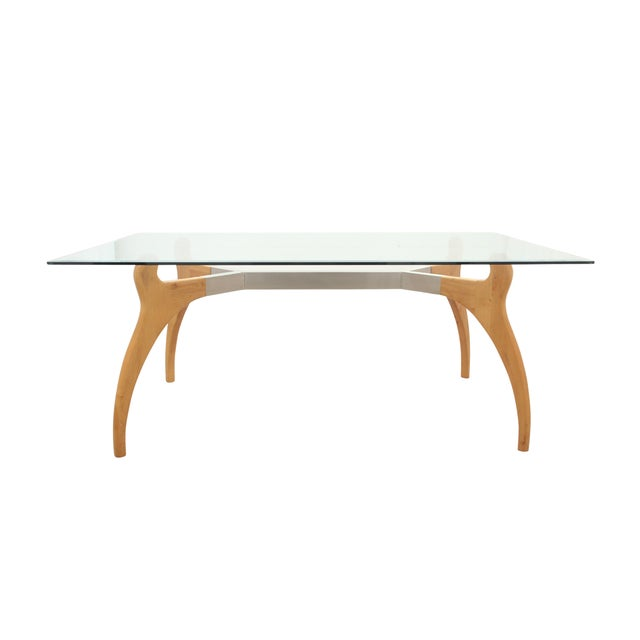 Mid Century Modern Glass Table - Image 1 of 7