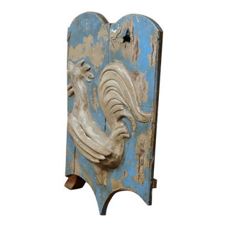 18th Century French Painted Rooster Tole Sign