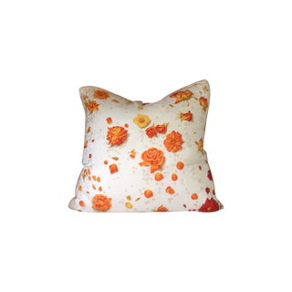 Custom Made Hermes Rose Down Pillow