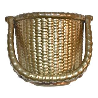 Nantucket Brass Basket Door Knocker