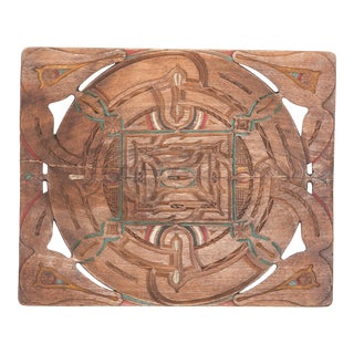Painted Tribal Tray From Sumatra