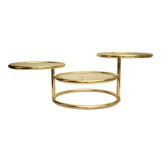 Milo Baughman Brass Swivel Cocktail / Coffee Table