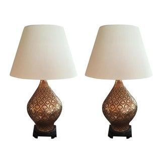 Vintage Copper Lamps - A Pair