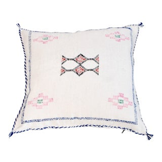 Cream Moroccan Berber Sabra Throw Pillow