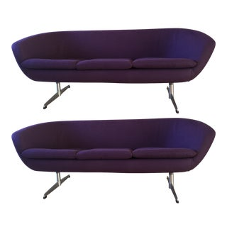 Overman Swedish Mid-Century Pod Sofas - A Pair