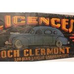 Image of 1930s Canadian Hand-Painted Car Licences Sign