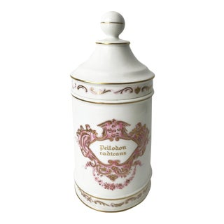 Antique Porcelain Apothecary Jar from Portugal