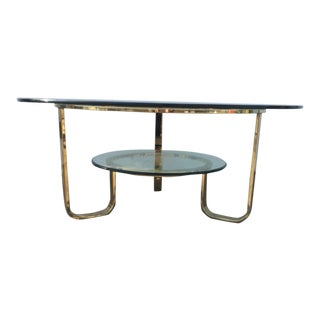 Gold Tone Brass Coffee Table