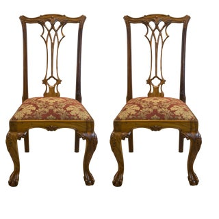 Solid Rosewood Tufft Chairs - A Pair