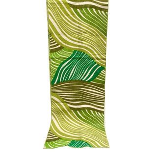 Retro Tropical Green Linen Table Runner