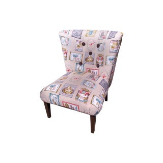 Vintage Slipper Chair with European Fabric