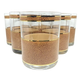 George Briard Animal Print Glasses - Set of 6