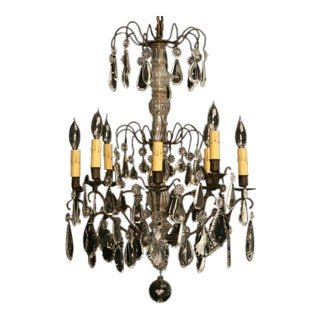 Stunning Vintage French Crystal 8 Light Chandelier