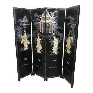Black Chinese Room Divider