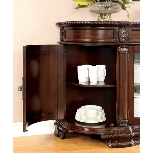 Image of Bellagio Brown Cherry Finish Server Buffet Cabinet