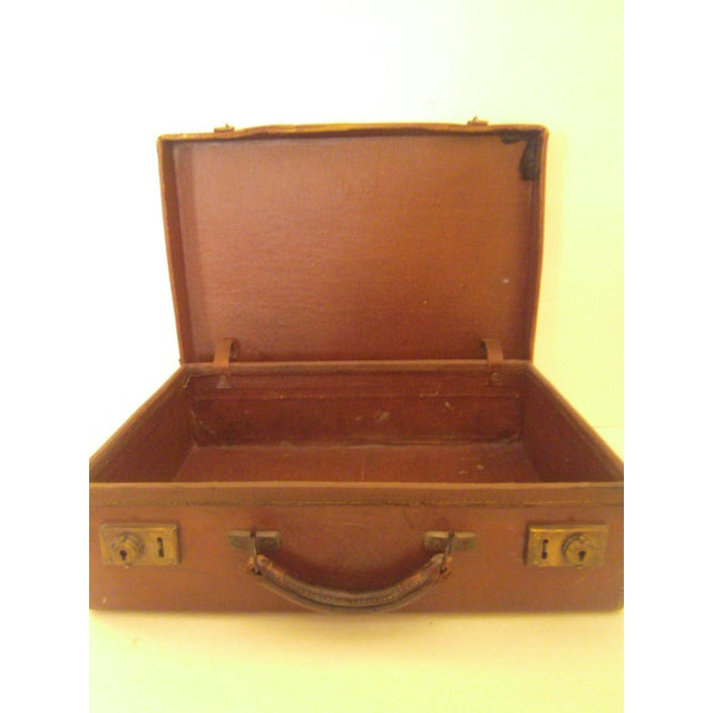 Image of Two Small Vintage Leather Suitcases