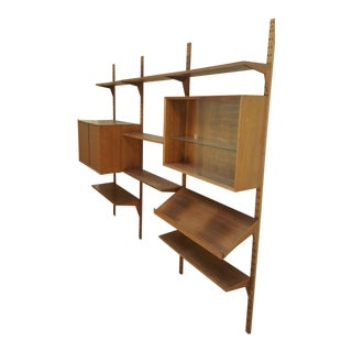 Vintage Mid Century Danish Modern Cado Wall Unit Bookcase Made in Denmark