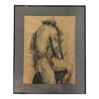 Charcoal Male Nude Study