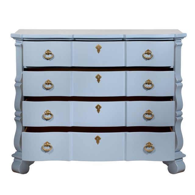 Blue French-Style 4-Drawer Dresser - Image 2 of 5