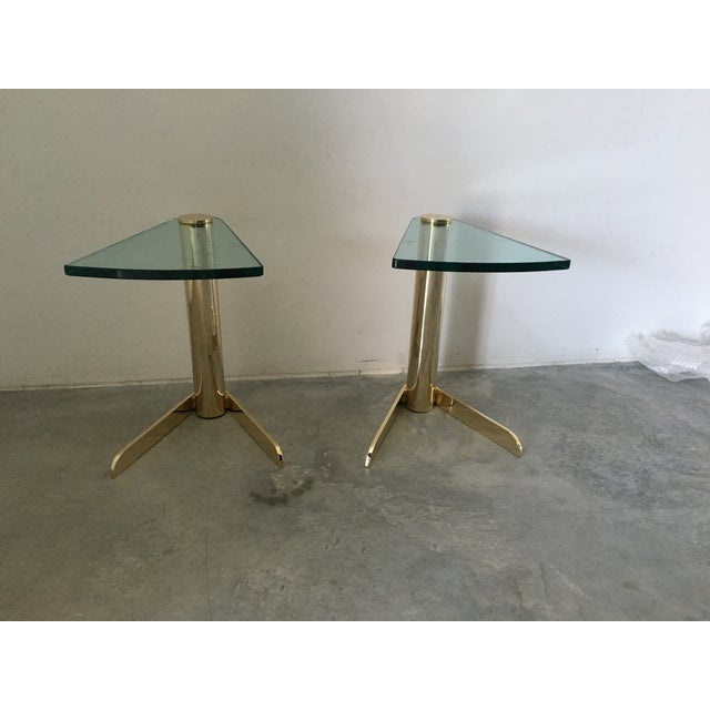 MCM Brass & Glass Side Tables by Pace - A Pair - Image 6 of 6
