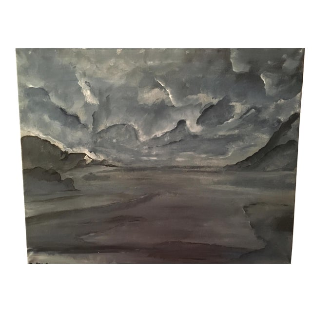 Contemporary Painting - Blue Lands - Image 1 of 3