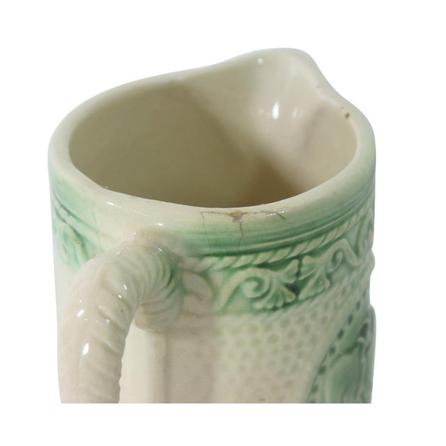 Image of Antique Ceramic Cow Pitcher