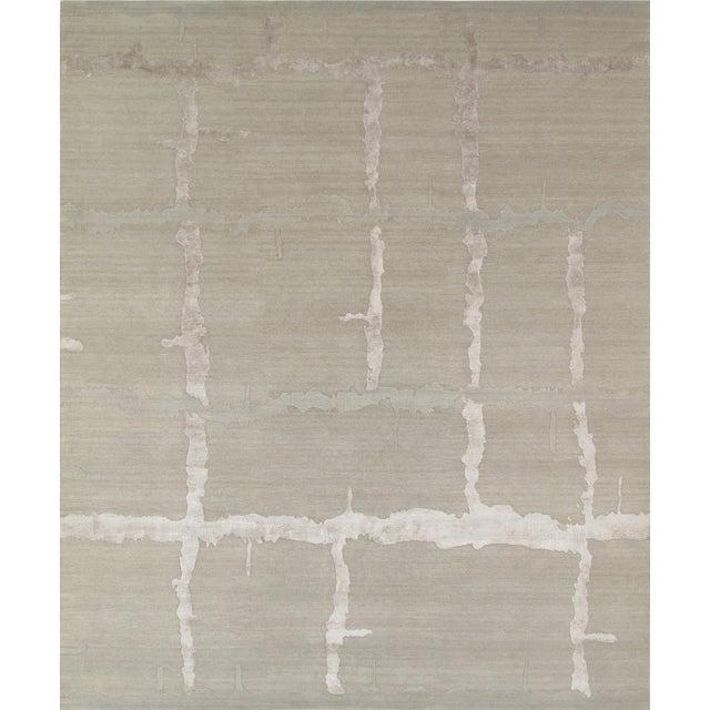 "Pasargad Modern Silk & Wool Rug - 8'0"" X 9'11"" - Image 1 of 4"