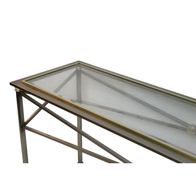 Stainless Steel & Brass Console - Image 3 of 3