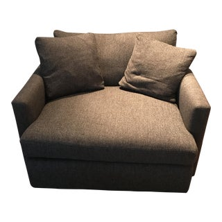 Crate & Barrel Brown Upholstered Club Chair