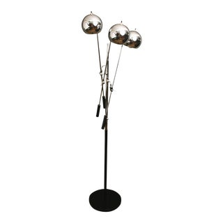 Robert Sonneman Chrome Triple Floor Lamp