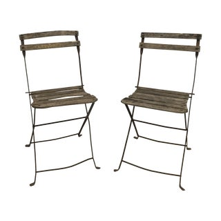 Vintage French Garden Chairs - Pair