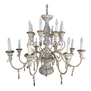Sixteen Light Italian Painted Chandelier