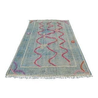 Handmade Turkish Floor Rug - 5′5″ × 8′4″