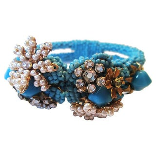 Glass Bead Clamper Bracelet