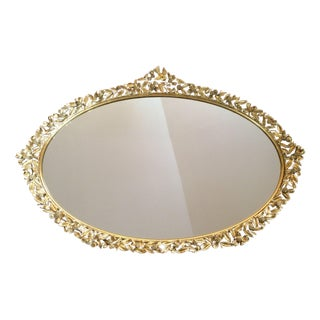1950s Bird & Dogwood Vanity Mirror