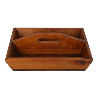 Antique French Wood Tote Tray