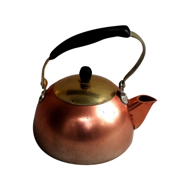 Image of Vintage 1950s Modernist Norwegian Aluminum Teapot