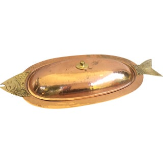 Copper Fish Server with Lid