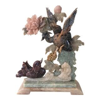 Multi Color Jade Carved Figurine