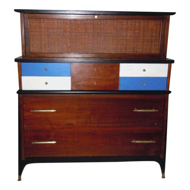 Mid-Century Modern Walnut & Painted Dresser - Image 1 of 8