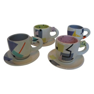 Rita Duvall Memphis Style Art Pottery Tea Set
