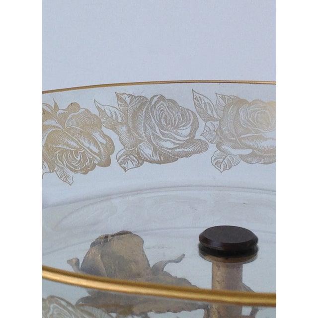 Gilt Italian Tole & 22k Gold Glass Center Bowl II - Image 8 of 8