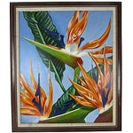 """Image of """"Birds of Paradise"""" Oil Painting by Sally Gelley"""