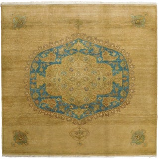Hand Knotted Indian Medallion Rug - 5'x 5'