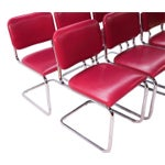 Image of Loewenstein Mid-Century Chrome Cantilever Chairs - Set of 6