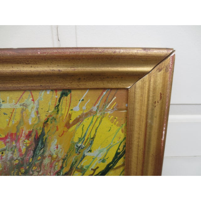 Large Colorful 1960s Abstract Oil - Image 7 of 8