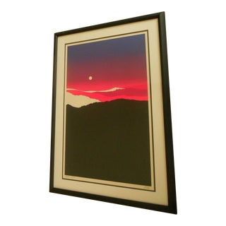"Richard Kozlow ""Full Moon Over the Mountains"" Artist Proof Silkscreen"