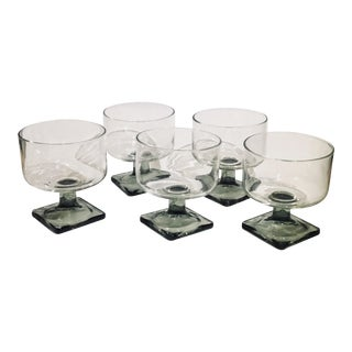 Nordic Midnight Smoke Cocktail Glass - Set of 5
